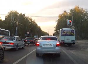 Массовые нарушения воронежской маршрутки с людьми сняли на видео