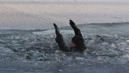 ВВоронеже спасли провалившегося под лед пожилого рыбака