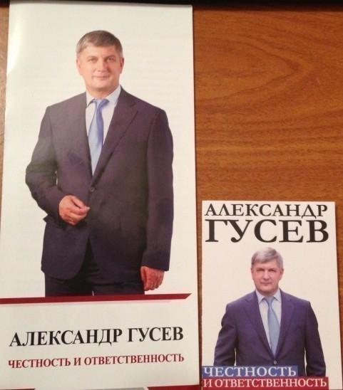 За кандидата в мэры Воронежа Александра Гусева агитируют в овощных киосках