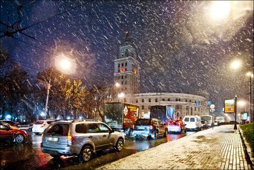 Волновой циклон принесет в Воронеж снегопад с сильным ветром
