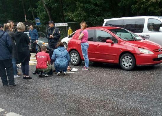 Воронежцы запечатлели последствия наезда на девушку-пешехода