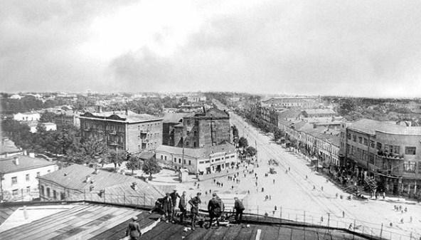 Довоенную панораму проспекта Революции показали в Воронеже