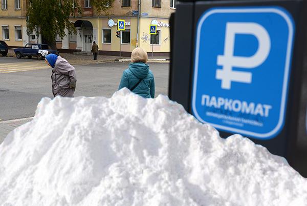 Кто уберет снег на платных парковках в Воронеже