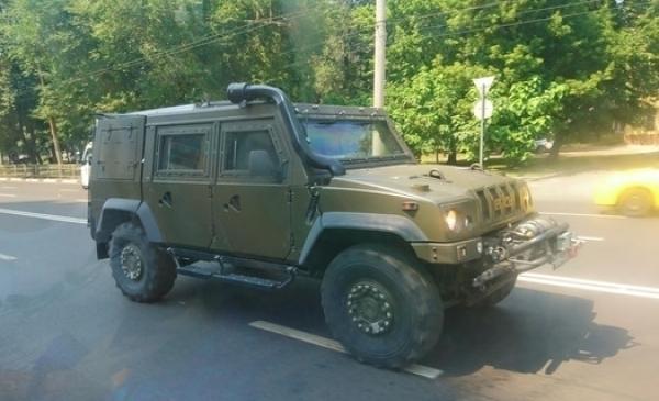 ВВоронеже сфотографировали редкостный военный автомобиль
