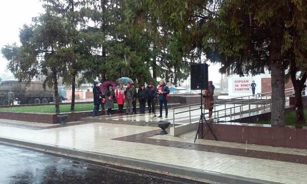 Митинг «Единой России» о событиях Октябрьской революции собрал в Борисоглебске 9 человек