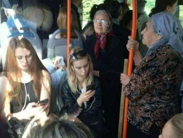 Воронежцы поддержали нахальных особ, не уступивших место пенсионерам