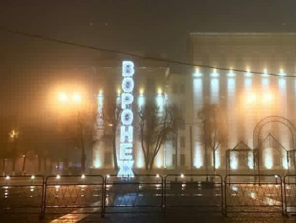 На основной площади Воронежа завершили установку ёлки