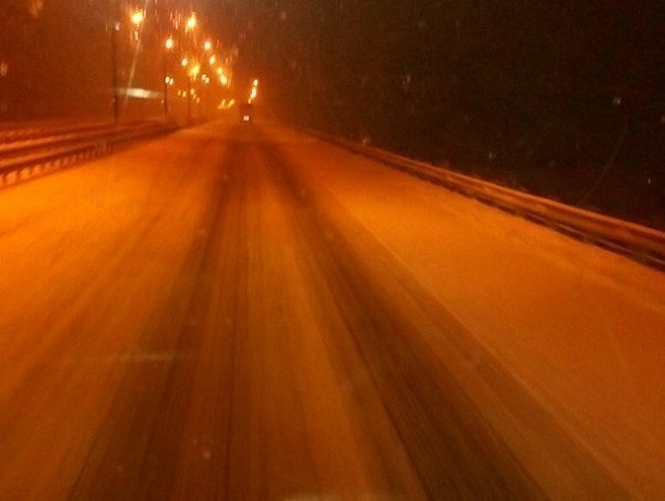 Воронежских автомобилистов предупредили о снегопаде на трассе М4 «Дон»