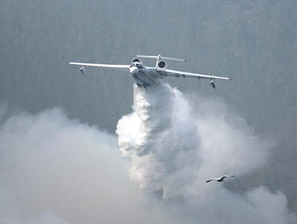 К тушению пожара на полигоне «Погоново» привлекли самолет Минобороны