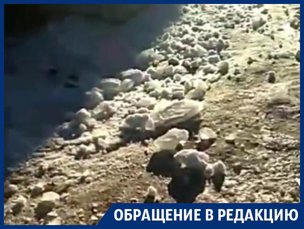 Нецензурную реакцию на ледяную бомбардировку сняли в Воронеже