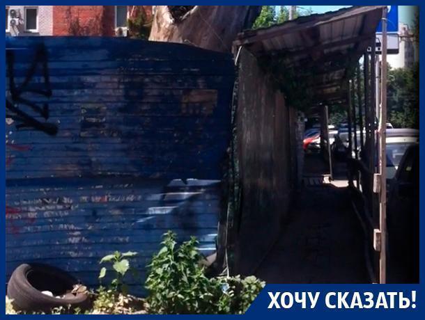 Воронежцы показали изношенный переход под носом у властей