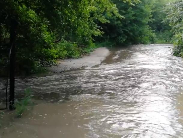Бурную реку у входа в «аквапарк Динамо» сняли в Воронеже