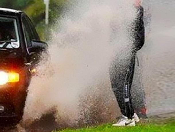 Гражданин  Воронежской области палкой разбил облившее его грязью авто