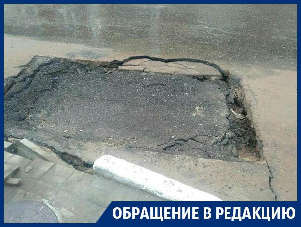 Бессмертная яма испытывает нервы дорожников в Воронеже