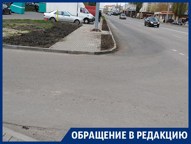 Благие намерения дорожников создали опасный участок в Воронеже