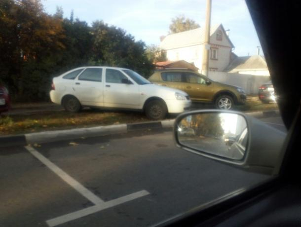 Платные парковки вынудили воронежцев портить газоны