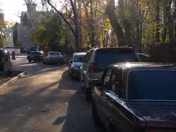 Логово экономных автомобилистов  нашли в парке Воронежа