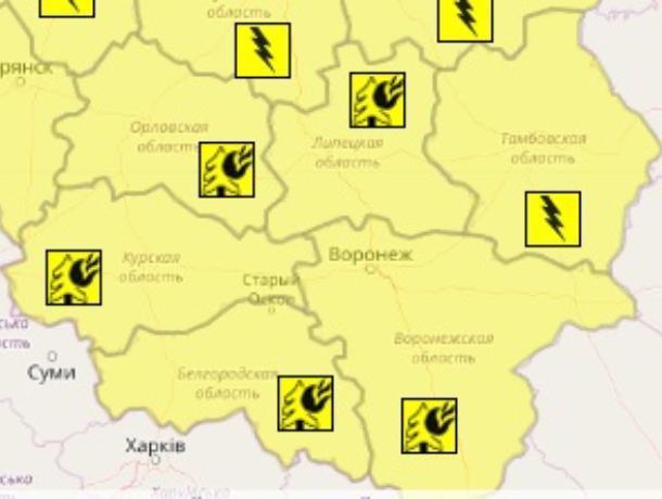 Желтый уровень опасности объявили в Воронеже в День России