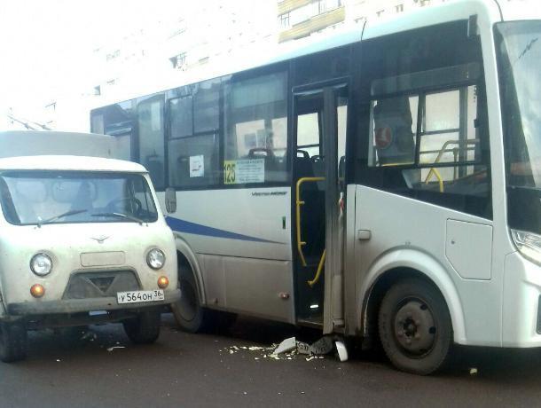В Воронеже «головастик» не успел отпрыгнуть от маршрутки