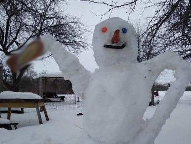 Под Воронежем нашли счастливого снеговика-алкоголика
