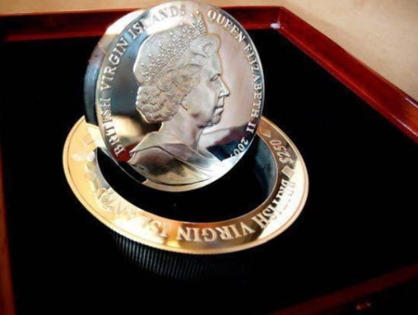 5-килограммовую серебряную монету продают в Воронеже за 620 тыс рублей