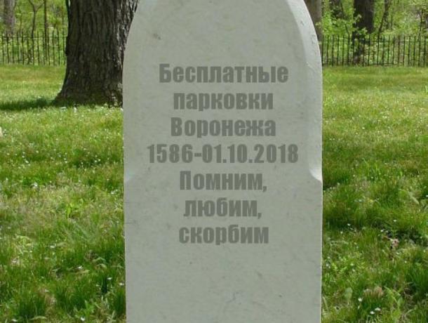 Поминки по бесплатным парковкам устроили в Воронеже