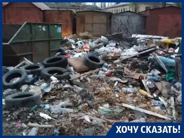 Мусор скоро подберется к детскому саду, - житель Воронежа