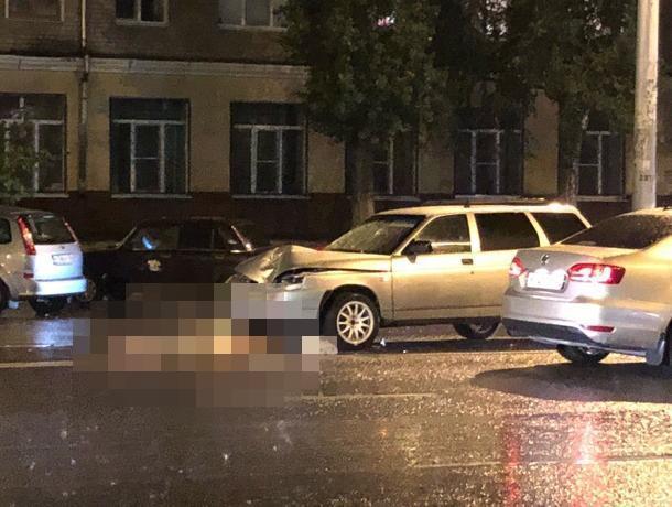 Опубликовано жуткое фото дважды сбитого пешехода в Воронеже