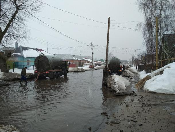 Из-за потепления вВоронеже безумно затопило две улицы