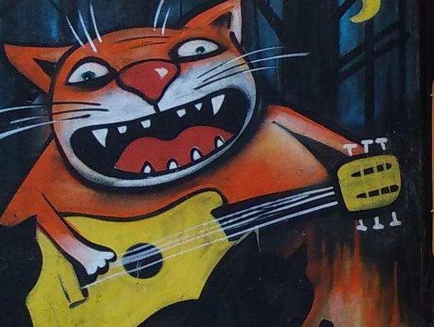Граффити в стиле Васи Ложкина нашли в Воронеже