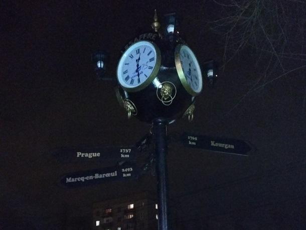 Потрясающие часы появились на Левом берегу Воронежа
