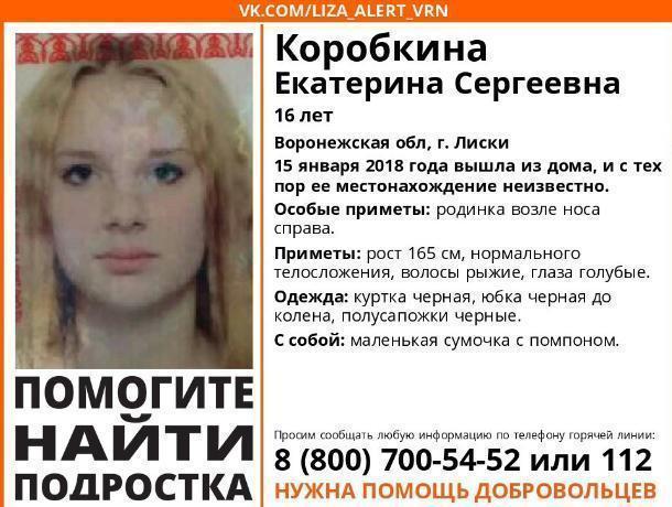 В Воронежской области 16-летняя девушка загадочно исчезла, выйдя из дома