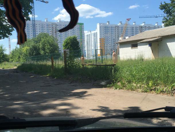 Голую парочку сфотографировали на спортплощадке в Воронеже