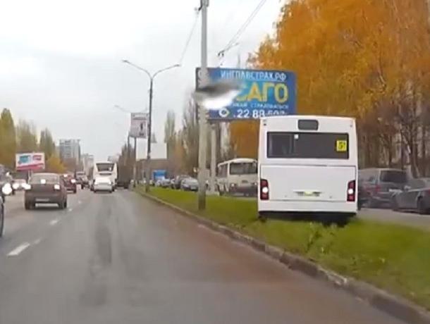 Маршрутчика-газоньера вычислили и оштрафовали в Воронеже