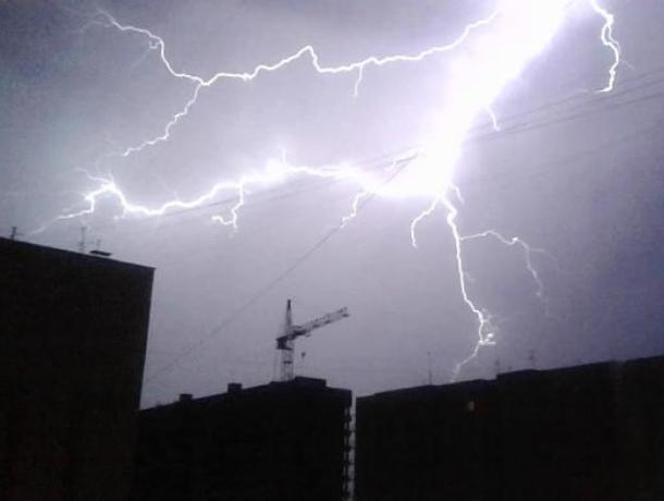 Желтый уровень опасности объявили в Воронеже из-за грозы
