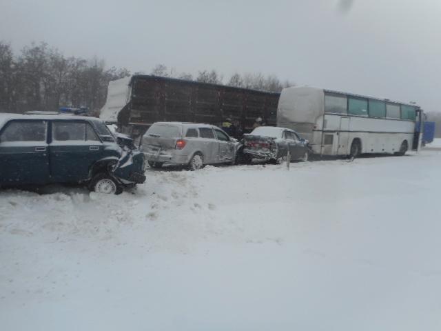 Массовое ДТП вВоронежской области произошло на666км дороги М4 «Дон»