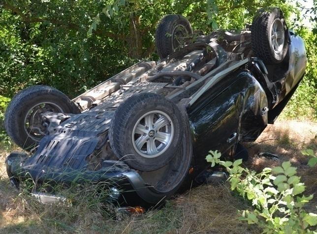 ВВоронежской области шофёр скончался оттравм вперевернувшемся Митцубиси