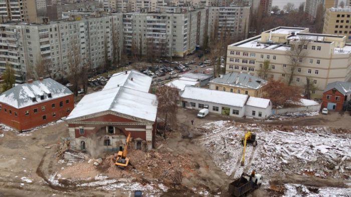 В Воронеже начали разрушать остатки одной из старейших церквей города