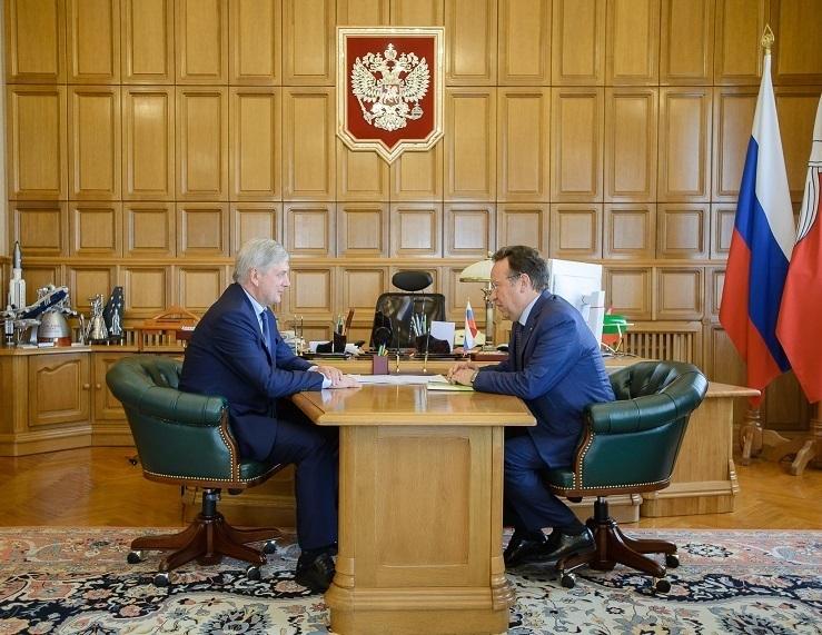 Председатель Центрально-Черноземного банка встретился с врио губернатора Александром Гусевым