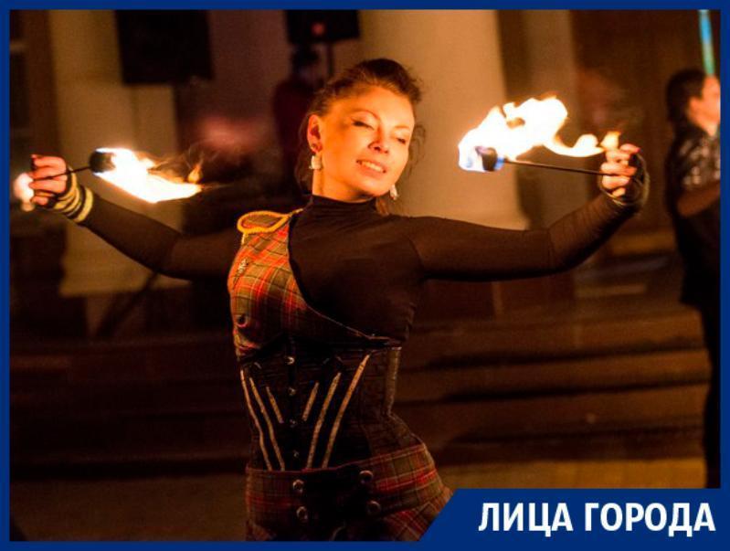 Дикий форс-мажор может травмировать в огненном шоу, - воронежская фаерщица