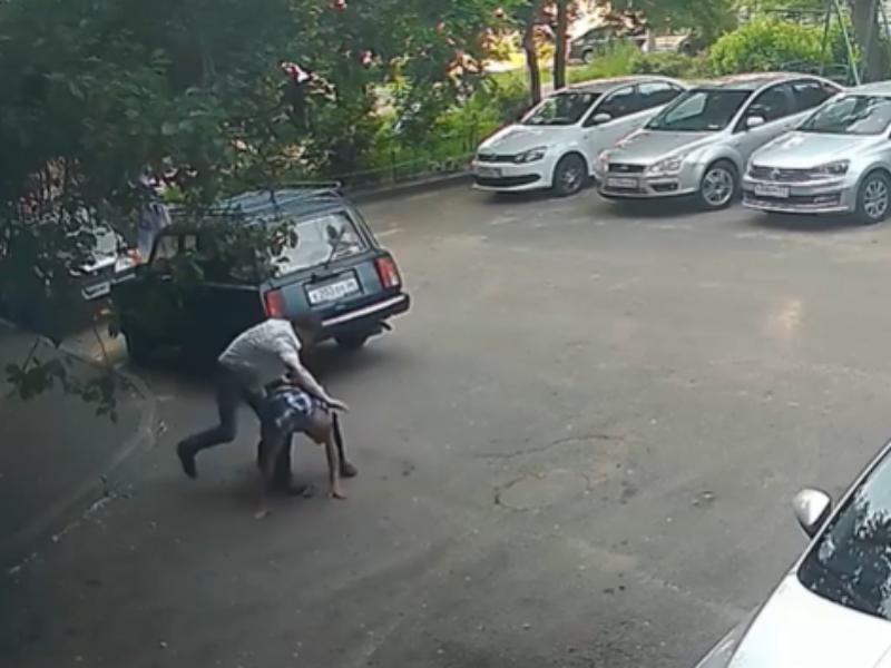 Жестокое избиение храброго пенсионера сняли в Воронеже