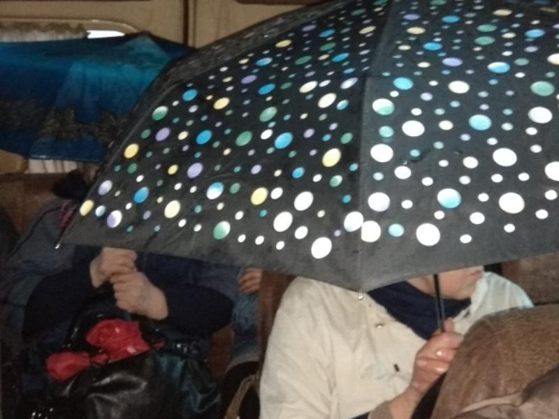 Влажное испытание в воронежской маршрутке показали на фото
