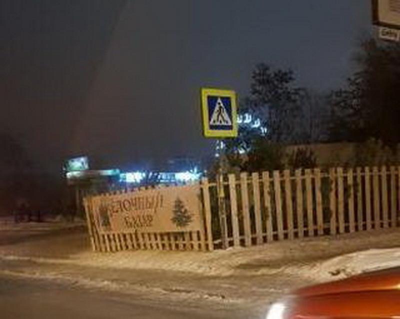 Воронежцы заметили незаконный елочный базар, угрожающий пешеходам