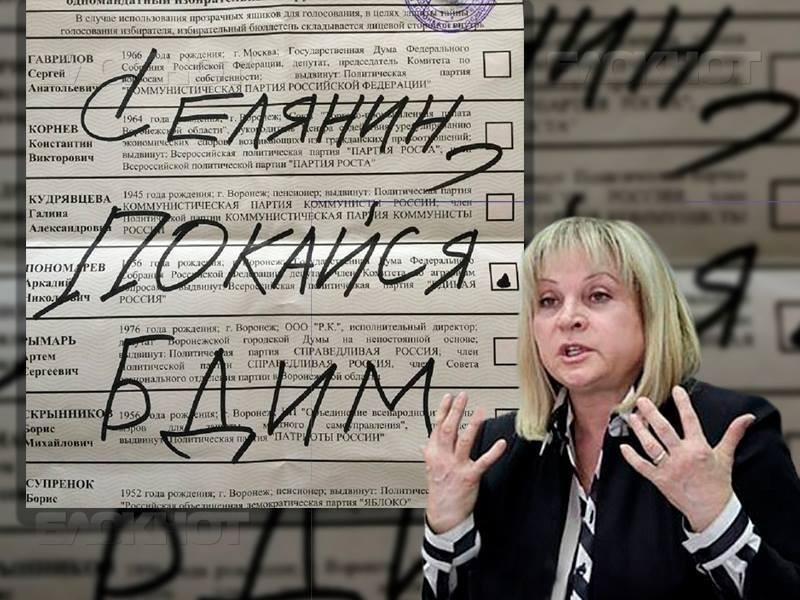Элла Памфилова послала новый сигнал воронежским креаторам «селянинских» выборов