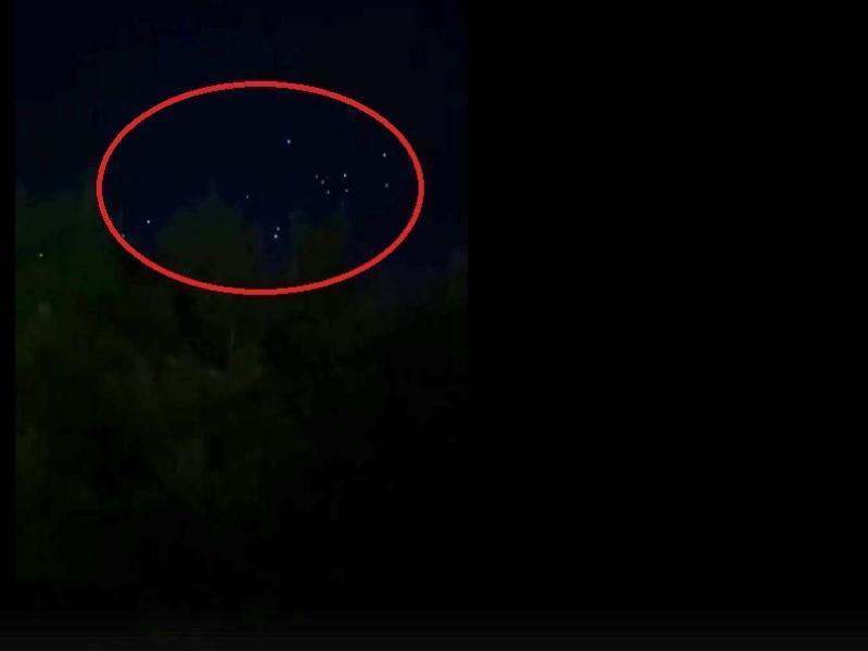 Загадочное мерцание в небе сняли в центре Воронежа
