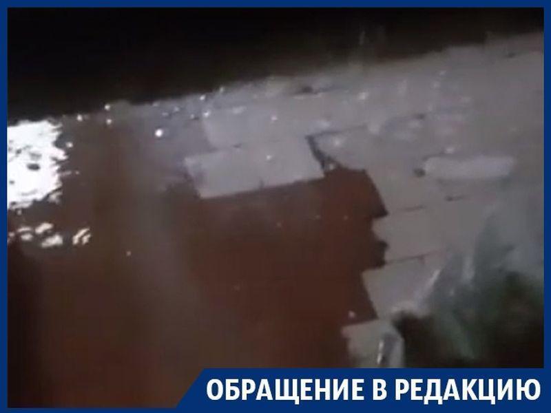 После капитального ремонта в Воронеже дождь смыл общежитие