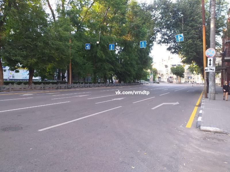 Противоречивая разметка в центре Воронежа запутала водителей