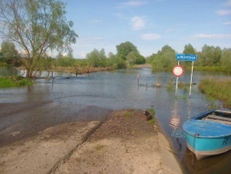 В Воронежской области прекращено автотранспортное сообщение — затоплен мост