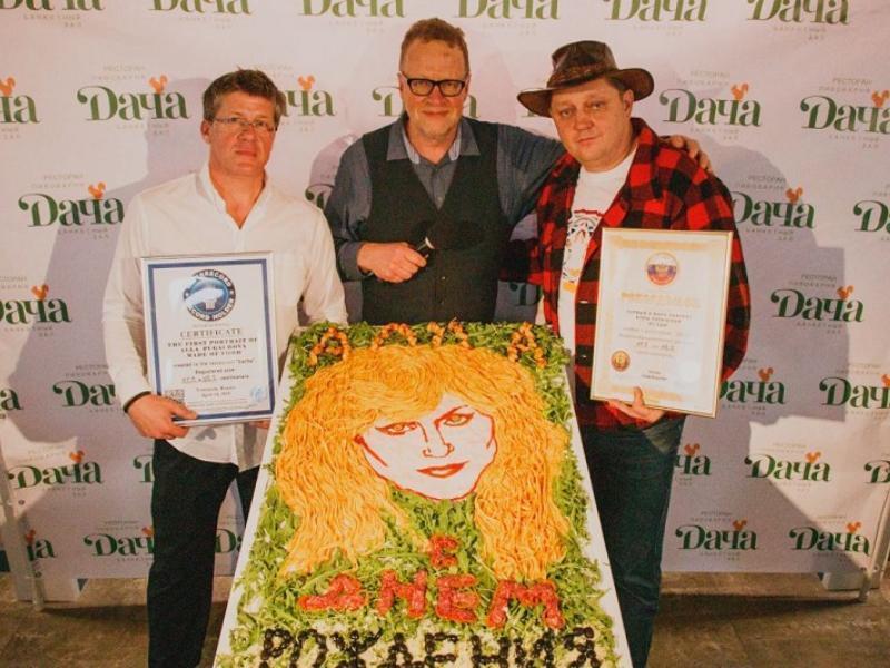 «Аппетитная Пугачева»: в Воронеже собрали портрет певицы из спагетти