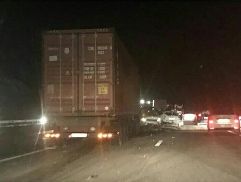 Фура снесла 10 автомобилей в пробке на М4 «Дон» в Воронежской области